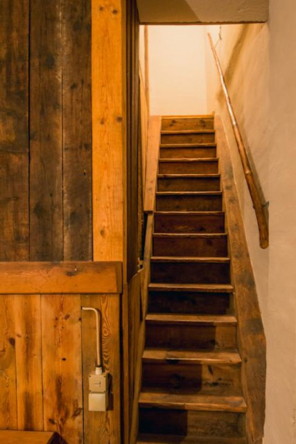 Treppe zum Heuboden