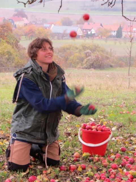 Spaß mit Äpfeln