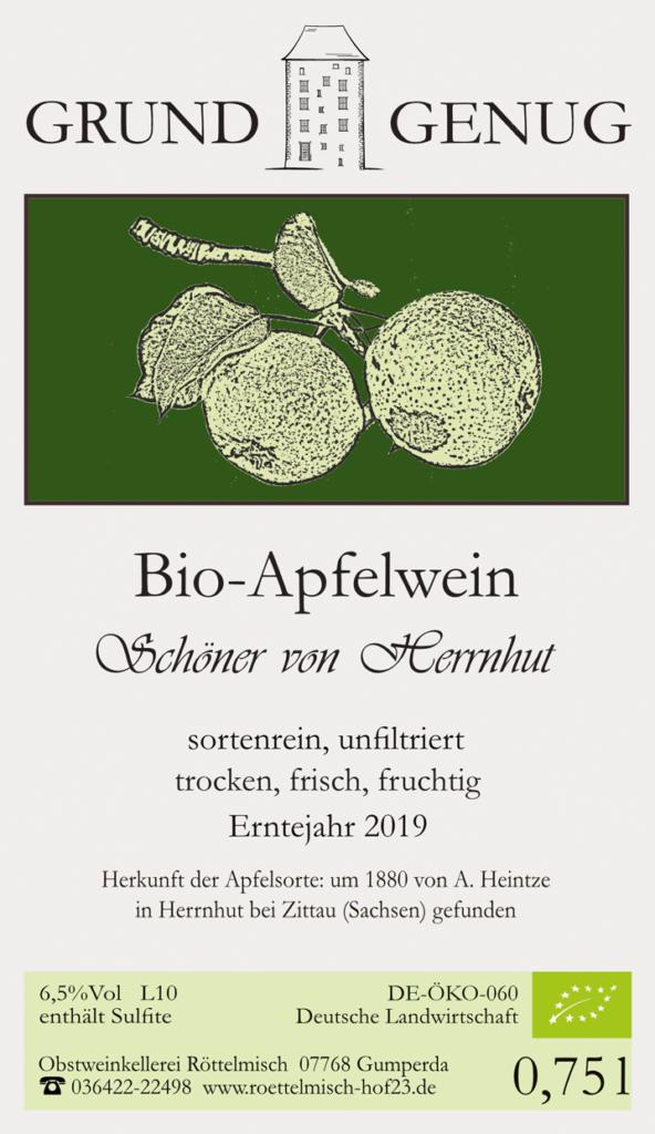 Bio-Apfelwein, sortenrein