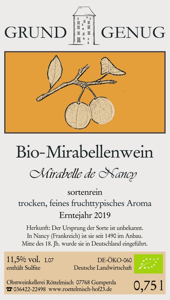 Bio-Mirabellenwein 2019