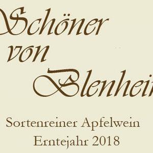 Sortenreiner Apfelwein 2018