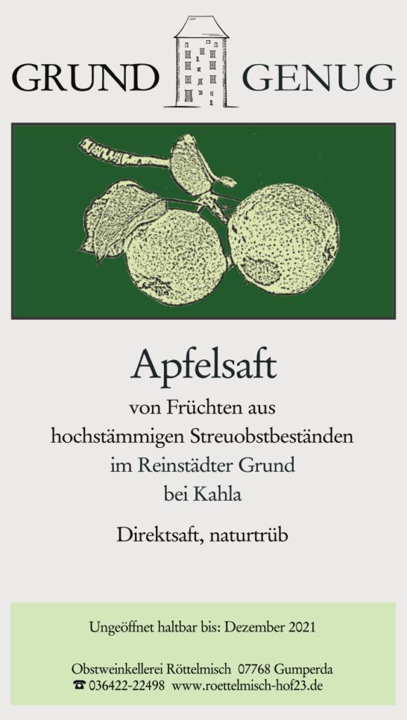 Apfelsaft, Reinstädter Grund